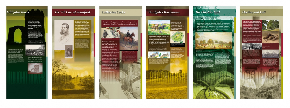 Information Graphic Panels for Old John Tower