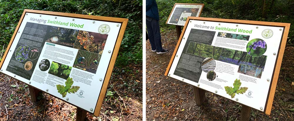 Swithland Wood North Carpark Interpretation Boards